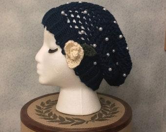 La Vie En Rose Beanie - Royal Blue