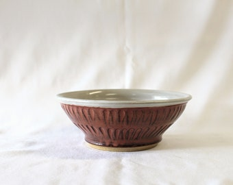 Handmade Hand thrown Ceramic Serving Bowl