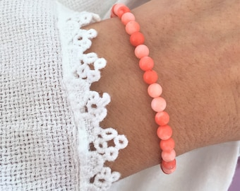 Coral bracelet Pink coral bracelet Natural stone bracelet Coral jewelry Christmas gift Valentines day gift Mothers day gift Free shipping