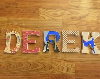 Superhero Paper Letters