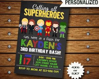 Avengers Invitation / Avengers Birthday Invitation / Avengers Birthday / Avengers Party / Avengers Invite / Superhero Invitation / Avengers