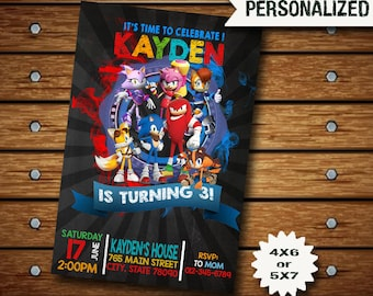 Sonic The Hedgehog Invitation / Sonic The Hedgehog Birthday Invitation / Sonic Invitation / Sonic Birthday / Sonic Party / Sonic Invite SS