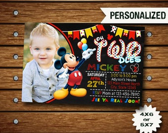 Mickey Mouse Invitation / Mickey Mouse Birthday Invitation / Mickey Invitation / Mickey Birthday / Mickey Invite / Disney Mickey / Mickey
