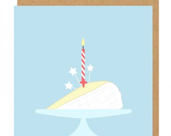 Brie Cheese and candle Birthday Greeting Card