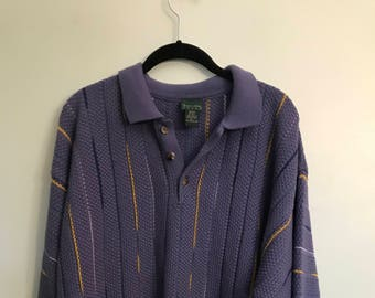 Collared Quarter Button Up Oversized Sweater