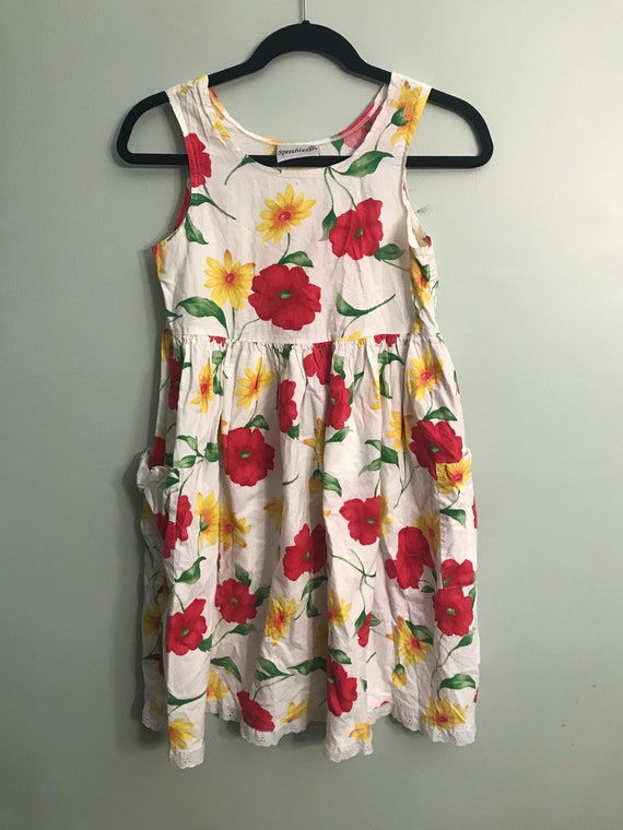 Floral Smock Dress With Pockets
