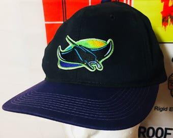 Tampa Bay devil rays Rays Florida vintage baseball mlb World Series classic  sports southern major league SnapBack hat black cap crown nyc la 33026888310b