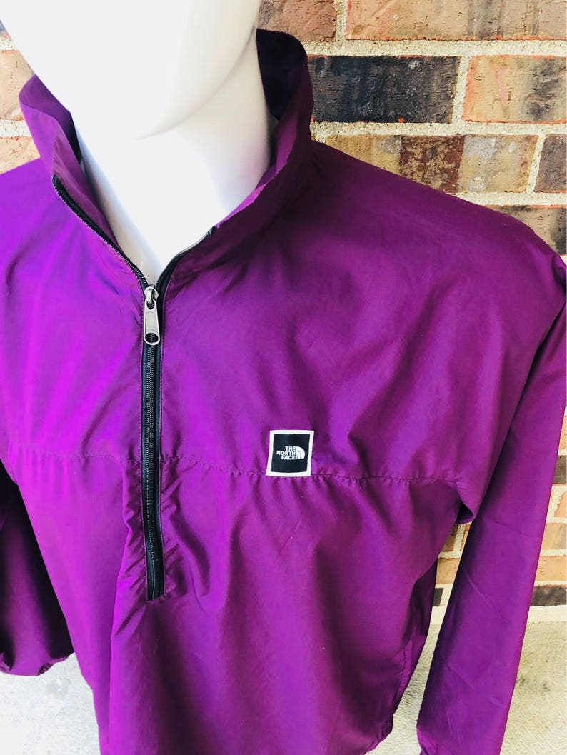 3b2d31f05d The north face vintage purple box logo windbreaker snow beach | Etsy