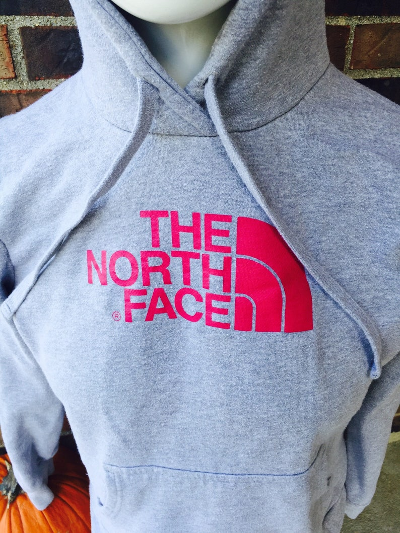 d8ed8ae8f The North Face vintage woman's size Large hoody sweatshirt eastcoast  nycvintage pink gray hood winter fall holiday snow skiing snowboard 90s