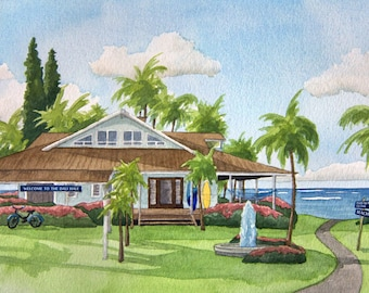 Portrait of Your Home: Custom watercolor painting of your house! Commissioned artwork, custom house portrait, custom artwork of your home