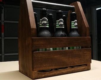 Wooden Beer Caddy * Wooden Beer Tote * Groomsmans Gifts * Bridesmaids Gifts* Wedding Gifts * Beer Tote