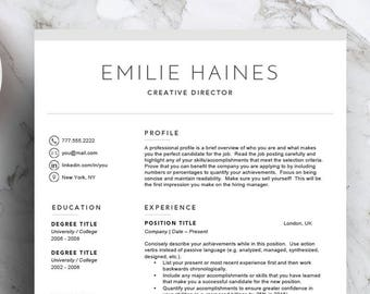 Resume Template For Word Pages 1 2 And 3 Page Cover Letter Letterhead Icon Set