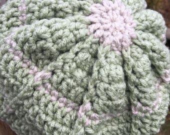 Green striped Beanie