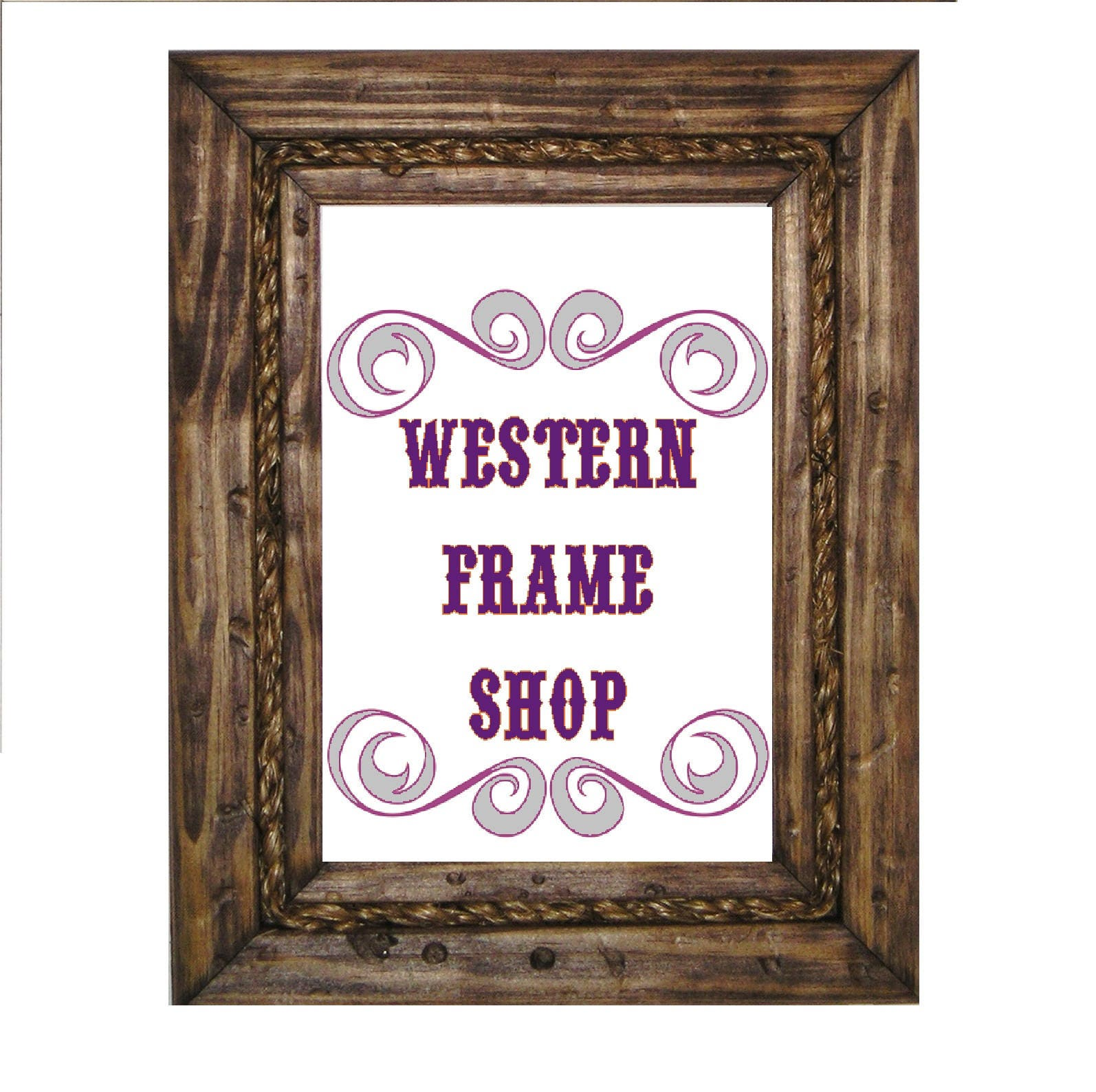 Nautical Rope Picture Frame. Cowboy Wood & Rope Picture Frame.   Etsy