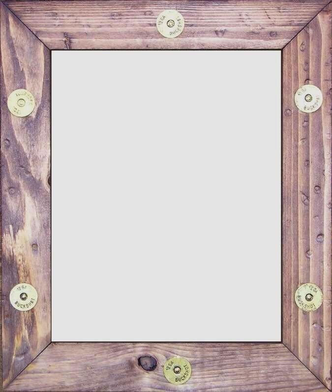Western Buckshot Wooden Frame Rustic picture frames   Etsy