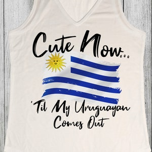 Womens White Racerback Tank Top Shirt XS-XXL Mexico City Ladies Mexico Tank Top Cute Now.. /'Til My Mexican Comes Out