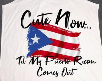 fa398bfca3 Ladies Puerto Rico Flag Tank Top