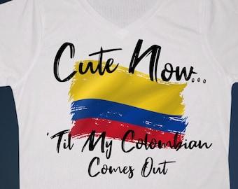 12cc2bb618c Ladies Colombia V-neck T-shirt