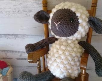 Lamb Crochet Sheep Stuffed Animal Soft Toy Amigurumi