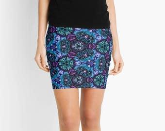 Eclectic Blue Mini Skirt