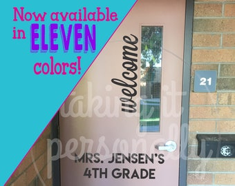 Classroom Door Welcome Vinyl