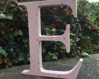 Soft Pink Hearts Personalised Letter