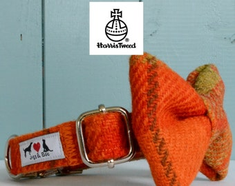 Genuine Harris Tweed Dog Collar 'The Campbell' with choice of buckle