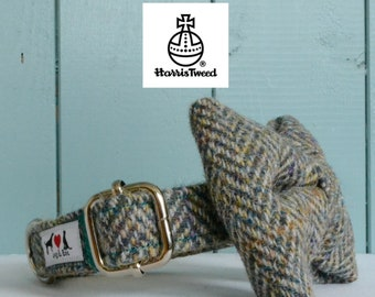 Genuine Harris Tweed Dog Collar 'The Toren' with choice of buckle