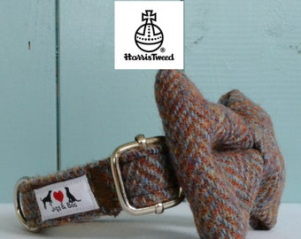 Genuine Harris Tweed Dog Collar 'The Ervin' with choice of buckle