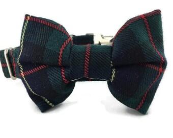 Styish Robertson Hunting Tartan Dog Bow Tie