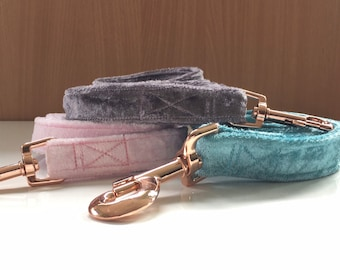 Stylish Velvet dog lead to match collar and bow available separately.