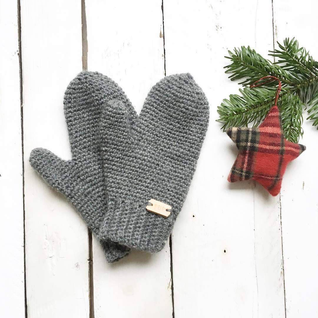 4ec4d16a4 Crochet Ladies Mittens 100% wool | Etsy