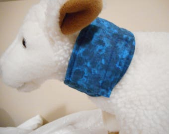 Cat or very small dog feeding tube cover - Blue baby