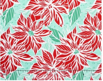 Jingle Poinsetta Ice by Kate Spain for Moda Fabrics - #27211-16