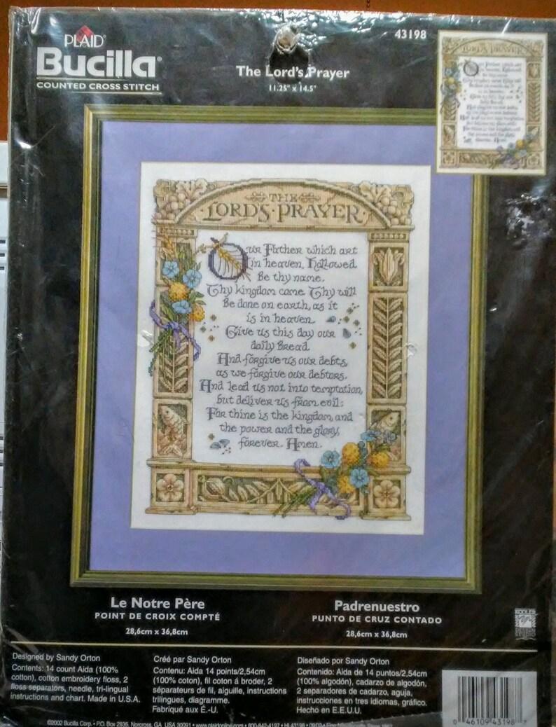 Plaid Bucilla Counted Cross Stitch The Lords Prayer # 43198