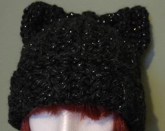 Cat ears toque - black