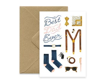 A6 - Best Dad Ever card