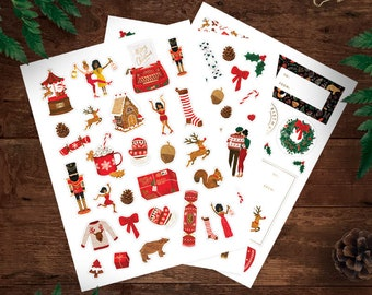 Christmas Stickers – Set of 3 sheets