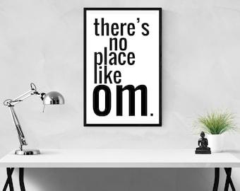 Om, Om wall art, Om art, spiritual wall art, spiritual gift, quote prints, wall art quotes, meditation, Buddha, Zen, mindfulness, AUM