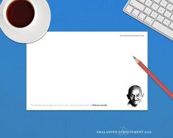 Gandhi, Gandhi Quote, Mahatma Gandhi, quotes, motivational note pads, inspirational notepad, inspirational quotes, Gandhi QuotePad™