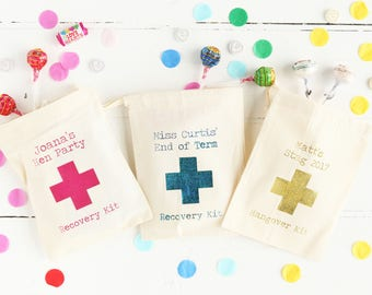 Hangover Kit Foil  Gift Bag Hen Party Stag Do Wedding Favour Birthday Party Birthday