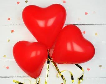 Wedding Heart Balloons Hen Party Balloons Mother's Day Birthday Party Wedding Balloons Love Hearts Romantic Decor