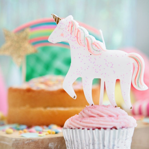 Glittery Unicorn Candle , Unicorn Birthday Cake Unicorn Theme Party Girls  Birthday Candles Childrens Birthday Party Decorations