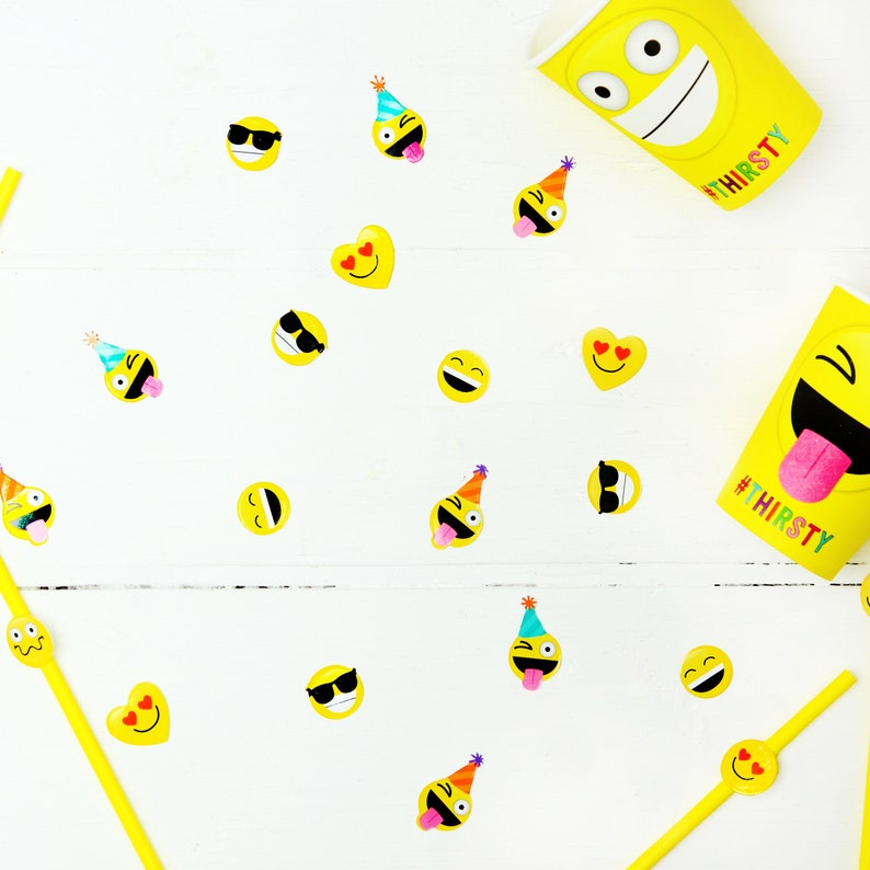 Emoji Table Confetti  10g Pack  Party Confetti Tableware image 0
