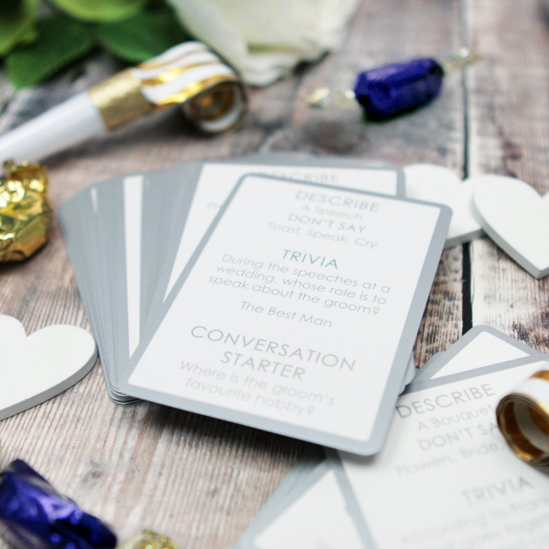 wedding table trivia cards 52 pack reception ice breakers