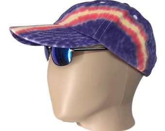 37b49aee31 Tie dye visor | Etsy