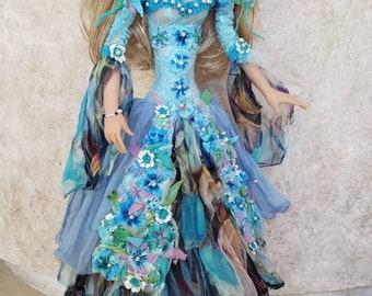 Puppen Spielzeug Art Boudoir Doll in Fashion dress unique home Sculpture interior gesign 22 Künstlerpuppen