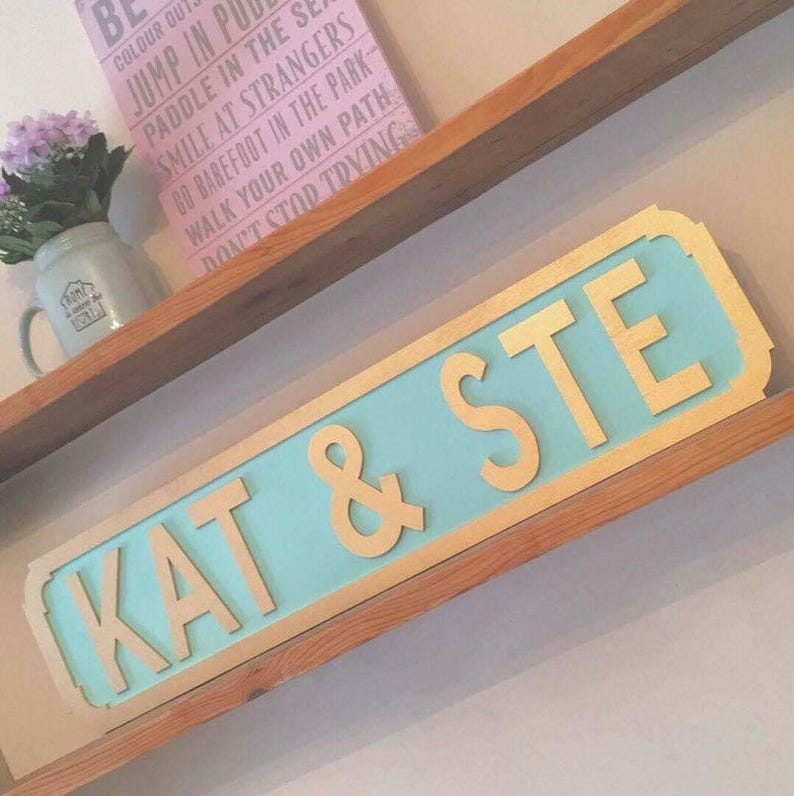 Personalised Freestanding Standard Font Street Sign Any Name Gift Idea