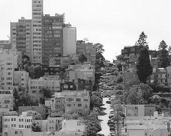 """Fotografia in Bianco e Nero dal titolo """"Lombard Street"""" - Serie di 20"""