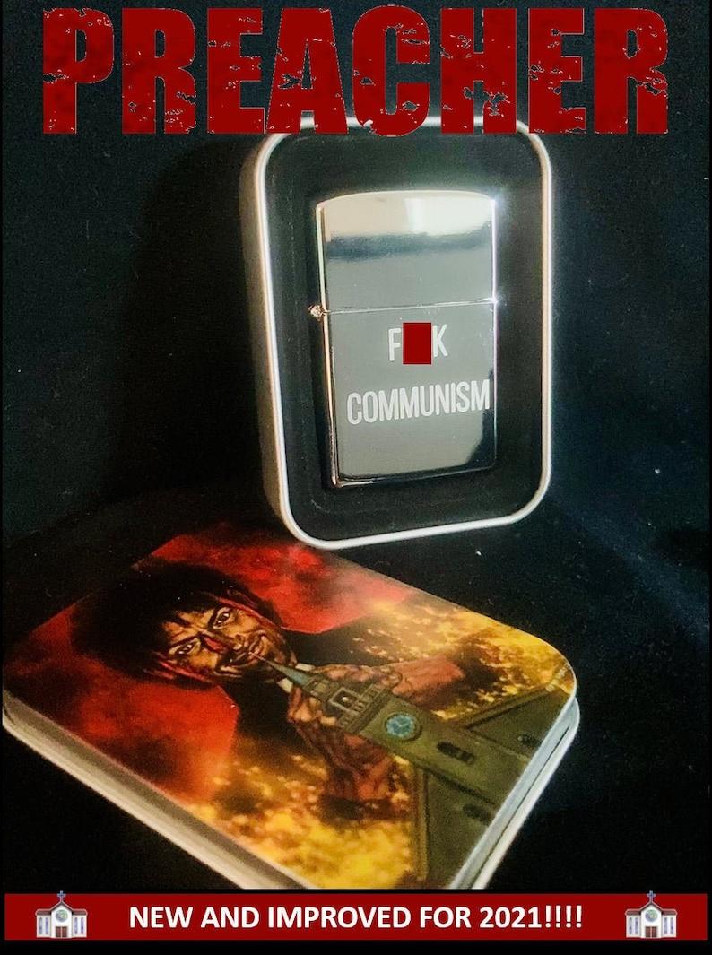 Preacher Fck Communism Lighter Comic Jesse Custer image 0